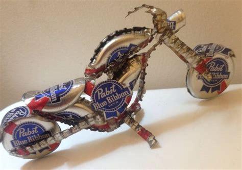 motocross beer beer cap motorcycle pabst blue ribbon bottle cap bike