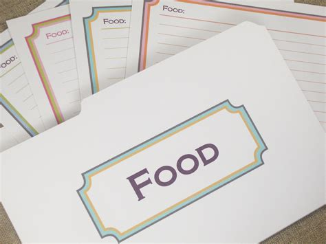 Are Borders Gift Cards Valid - borders printable editable recipe cards with mini folder gift tags type or paste
