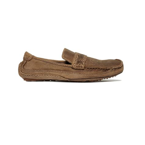 bed stu loafer lyst bed stu keeper slip on loafers in brown for