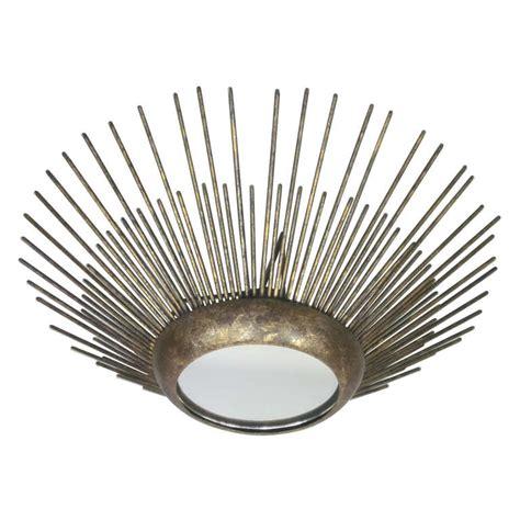Sunburst Chandelier Modern Neoclassical Gilt Iron Sunburst Chandelier Pendant At 1stdibs