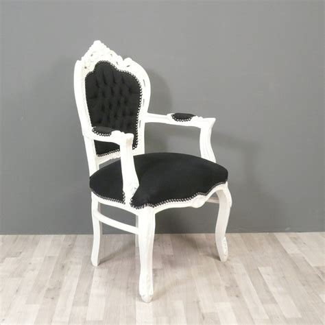 black and white baroque armchair chairs