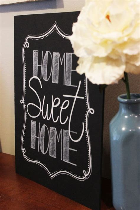 decorative chalkboards for home home sweet home chalk board sign by sweetpeasparty on etsy