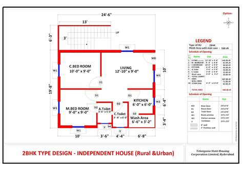 telangana housing scheme 2bhk design 2bhk plan telangana