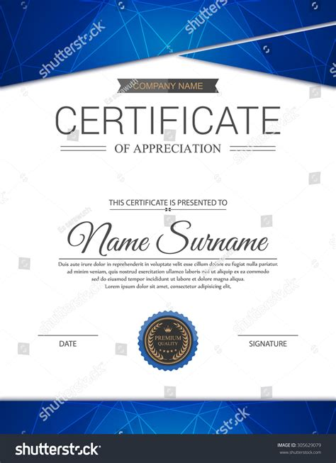 vector certificate template 305629079 shutterstock