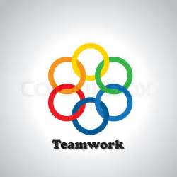 what color represents unity vector icon colorful rings interlocked teamwork concept