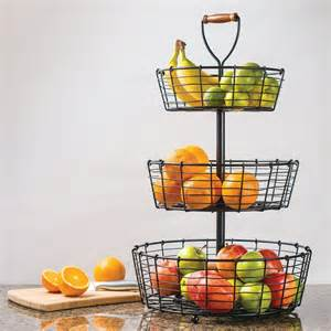 Giftburg 3 tier wrought iron wire basket fruit food bath items item