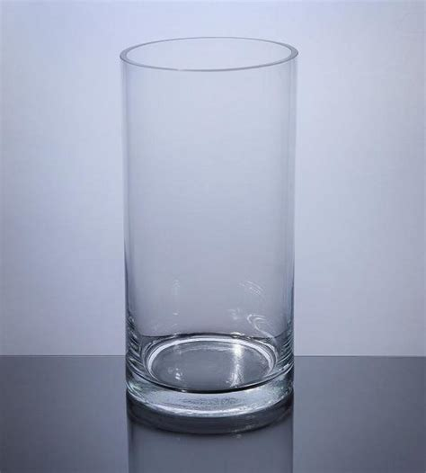 Cylindrical Glass Vases by Pc510 Cylinder Glass Vase 5 Quot X 10 Quot 12 P C Cylinder