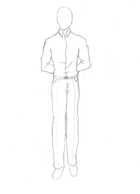 A Drawing Of A Person by How To Draw Person Standing