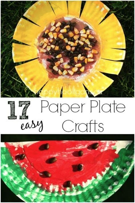 Paper Plate Food Crafts - 17 easy paper plate crafts for happy hooligans