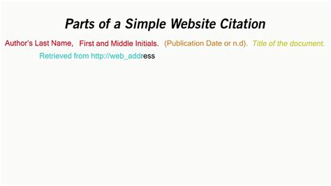 apa format exle website how to cite a website in apa style youtube