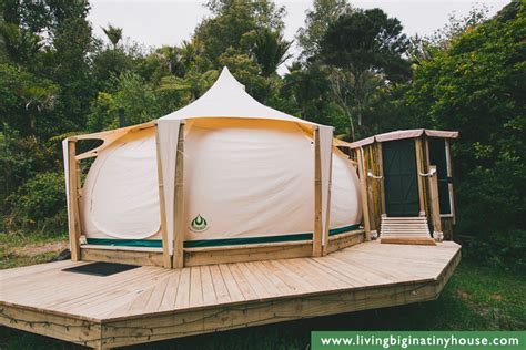 building a tent platform living in a lotus belle tent living big in a tiny house