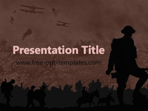 Wwi Ppt Template War Powerpoint Template