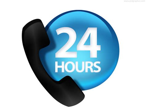 Phone By Address 24 Hours Phone Contact Icon