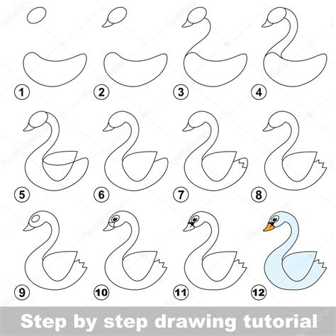 how to make doodle tutorial tutoriel de dessin comment dessiner un cygne blanc
