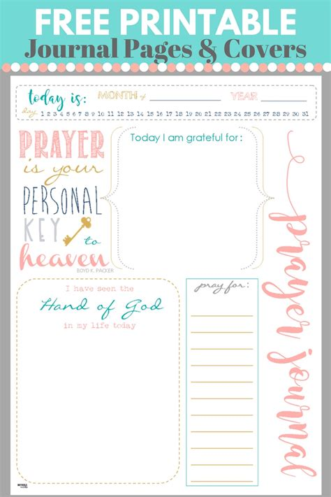 Printable Prayers start a prayer journal for more meaningful prayers free