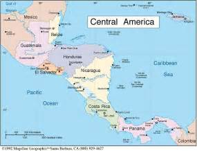 a map of central and south america central south america map