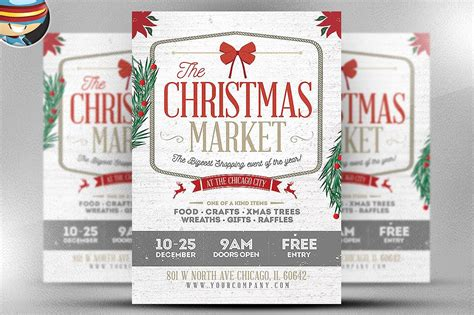 Rustic Christmas Flyer Template Flyer Templates Creative Market Rustic Flyer Template