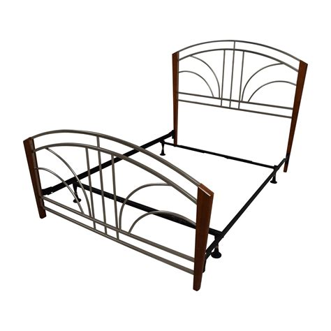 89 Off Wood Post And Metal Frame Queen Bed Frame Beds Bed Frame Sales