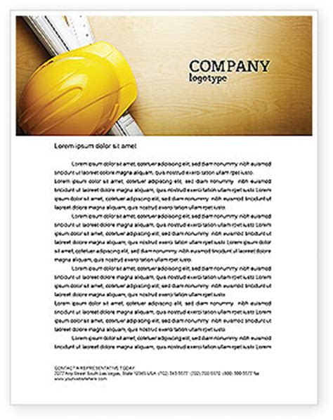 foreman letterhead template layout for microsoft word