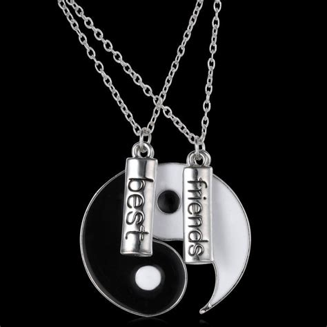 2pc silver fashionable necklace yin yang pendant best