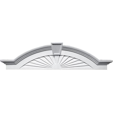 interior door pediments pd 270375 elliptical sunburst with trim pediment