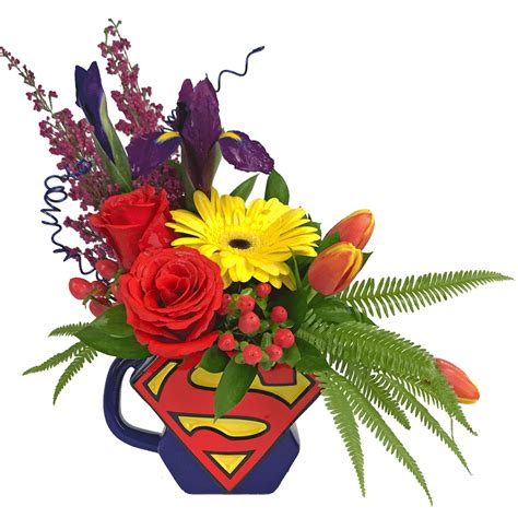Flower Mug superman flower mug designed by karin s florist same day