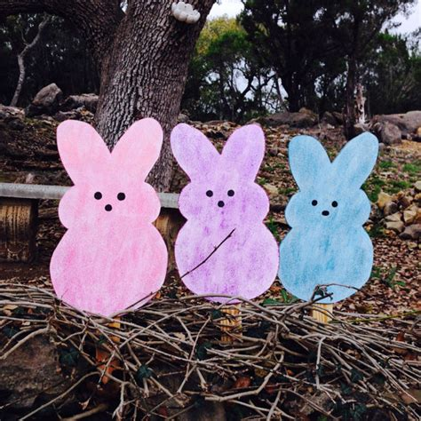 Easter Bunny Outdoor Yard Decoration Items Similar To Easter Bunny Peeps Yard Lawn