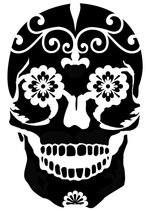 sugar skull design template printable sugar skull stencils easy sugar skull stencil