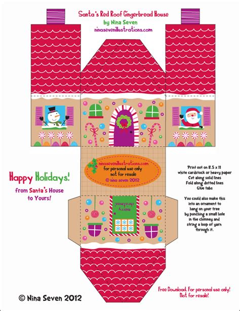 printable gingerbread house designs nina seven free gingerbread house designs