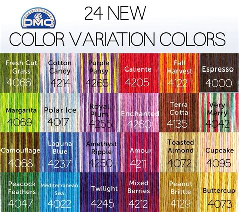 dmc floss colors new dmc color variations colors with names cross stitch