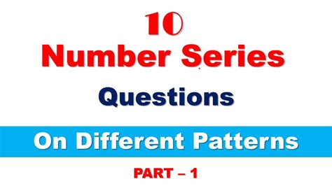 number series pattern recognition questions number series question on different pattern for sbi clerk