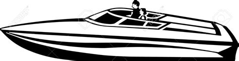 speed boat clipart black and white power boat clipart clipground