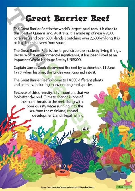 Coral Reef Worksheets For by Teaching Resource A Comprehension Activity About The