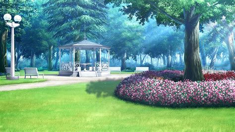 background outdoor park anime background