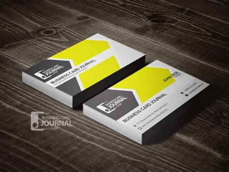 complimentary card template psd yellow business card template psd file free
