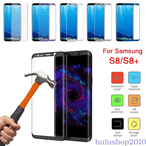 Tempered Glass Indoscreen Samsung S8 Cover Set tempered glass 9h cover screen protector for samsung
