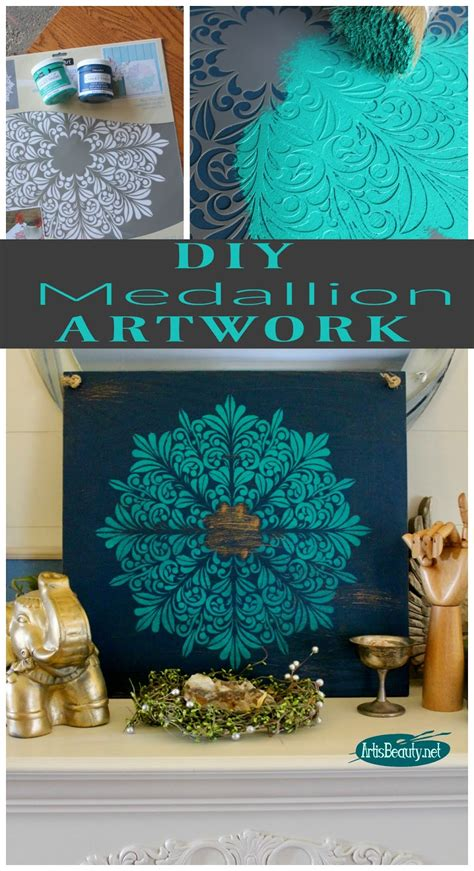 is diy medallion wall from an shelf