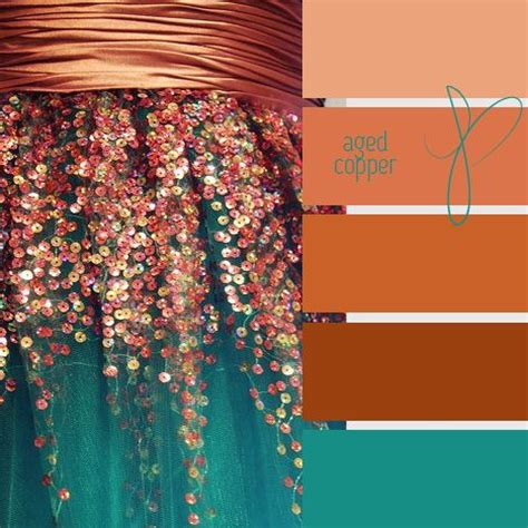 copper color combinations aged copper amazing colors pinterest