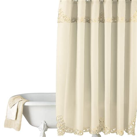 shower curtain collections elegant scroll shower curtain by collections etc ebay