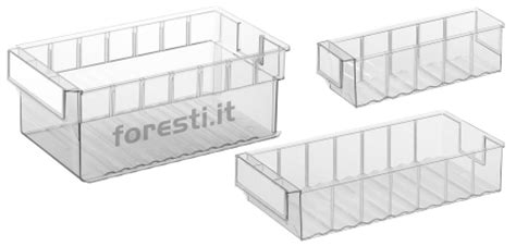 scaffali di plastica contenitori in plastica trasparente per scaffali serie lbt
