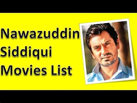 Nawazuddin Siddiqui Movies List - YouTube