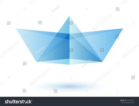 origami boat logo paper boat logo design idea origami toy symbol