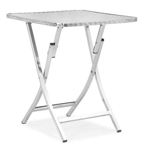 modern folding table zuo modern bard folding table aluminum by oj commerce