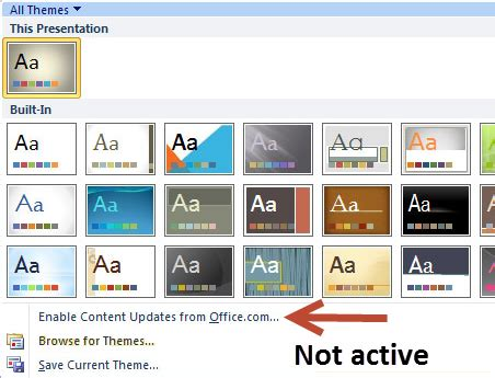 powerpoint themes not showing luc s powerpoint blog how to not show themes from office