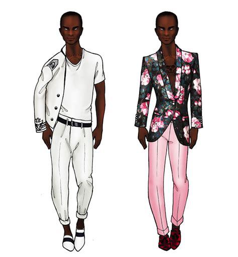 design doll male model paper dolls final fashion