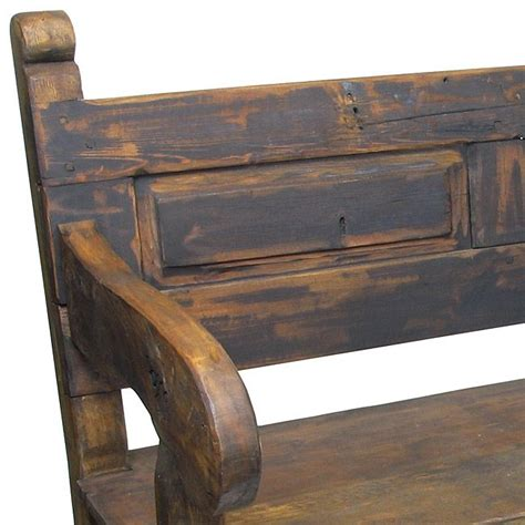 mexican bench rustic old door mexican colonial bench rustic wood