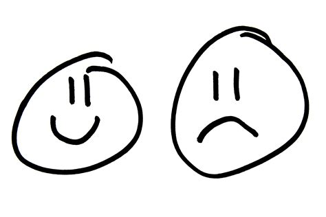 Happy Sad Face Colouring Pages Page 3 sketch template