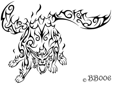 naruto tribal tattoo tribal nibi by blackbutterfly006 on deviantart