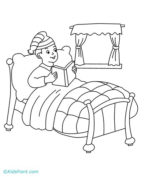 coloring page to go to bed coloring pages