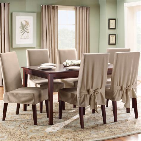 Dining Room Table Chair Covers Slipcover For Dining Room Chairs Stylish Look Homesfeed
